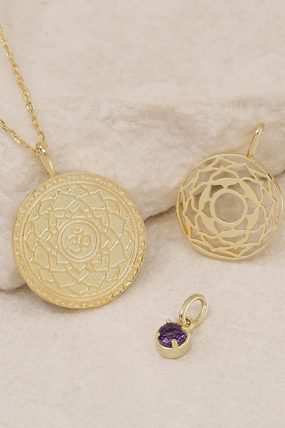 Gold I am Divinely Grounded Crown Chakra Necklace
