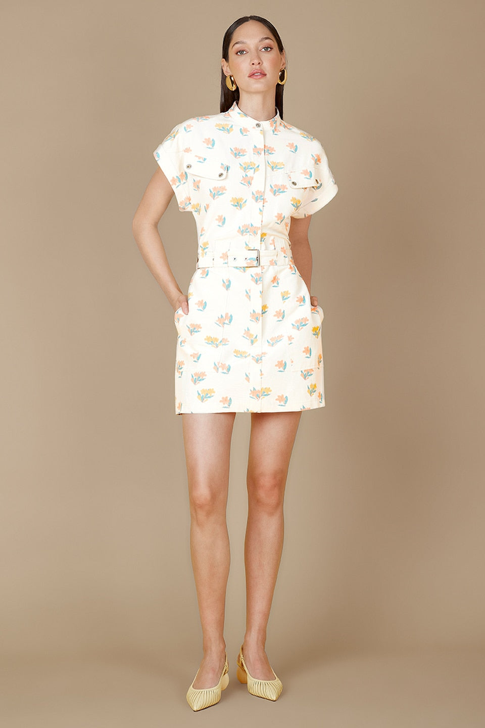 Hadi Print Mini Dress
