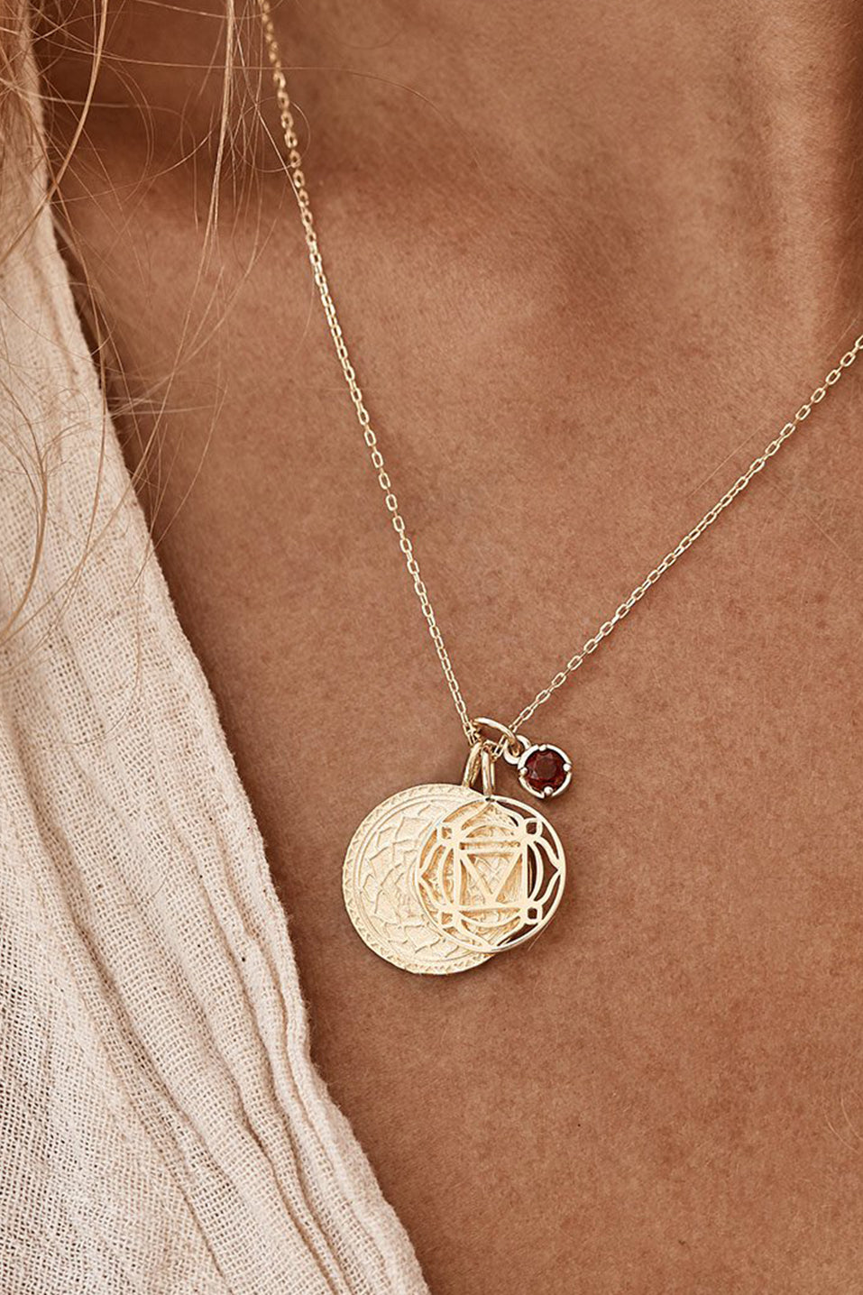 Gold I am Present Root Chakra Necklace