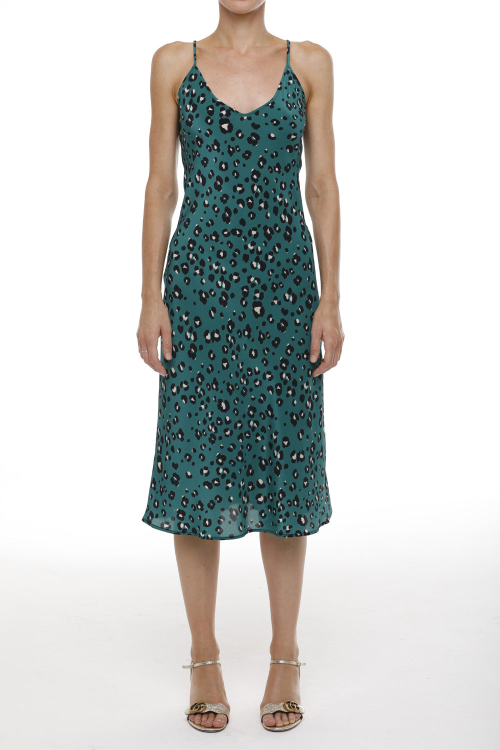 AMA New York Dress - Green Cheetah