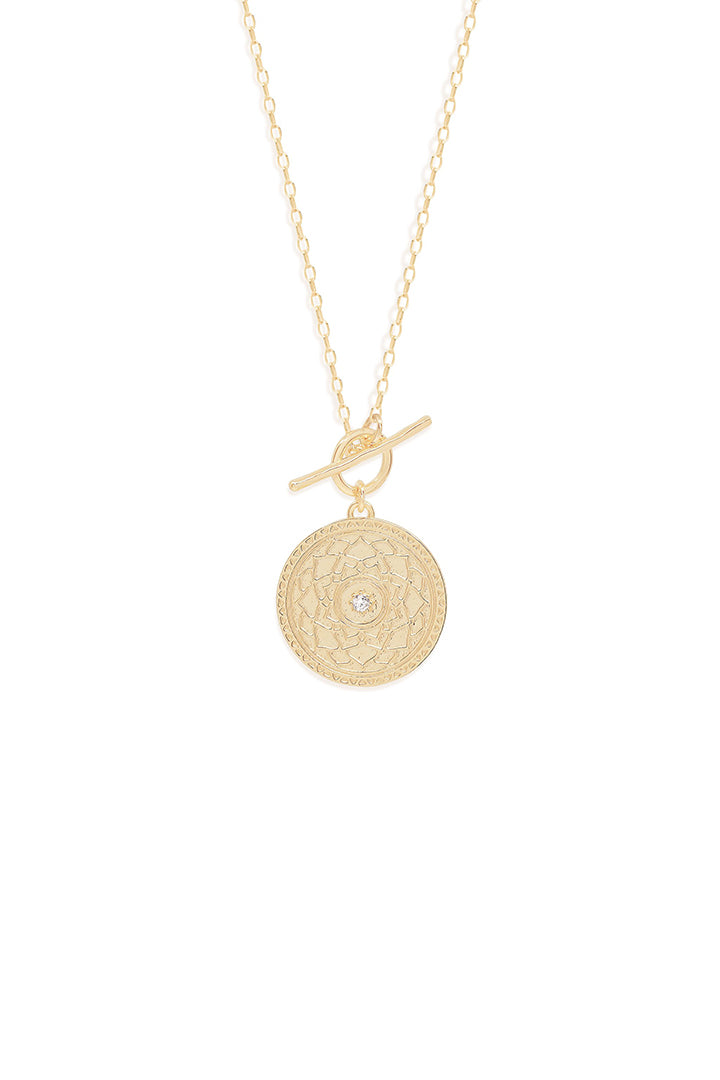 Gold a Thousand Petals Fob Necklace