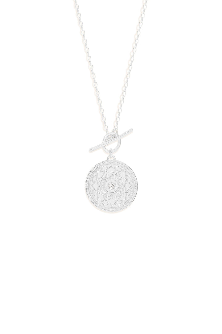 Silver a Thousand Petals Fob Necklace