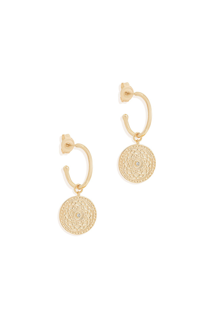 Gold A Thousand Petals Hoops