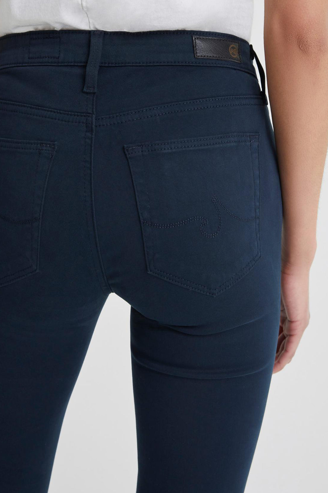 The Prima Sateen Jean - Midnight Navy