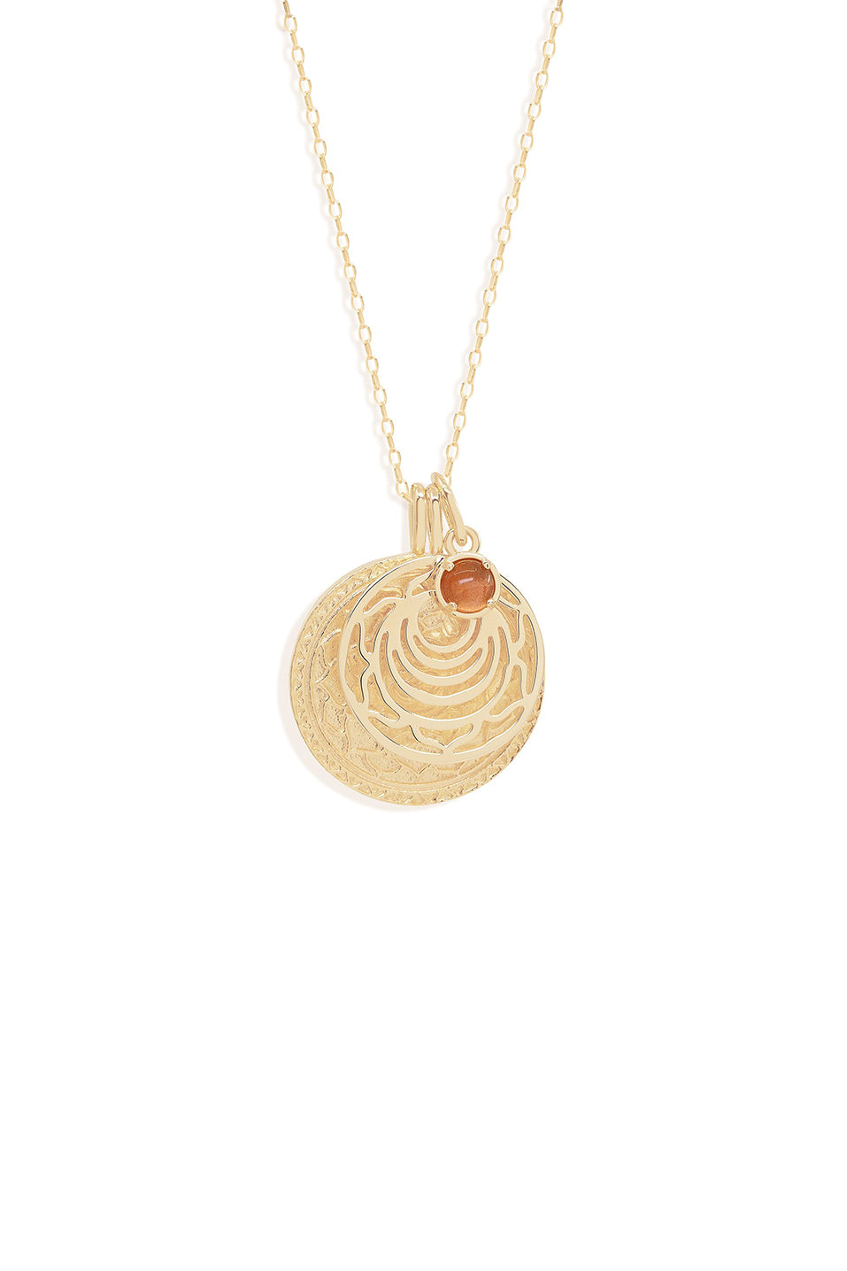 Gold I Honour Myself Sacral Chakra Necklace