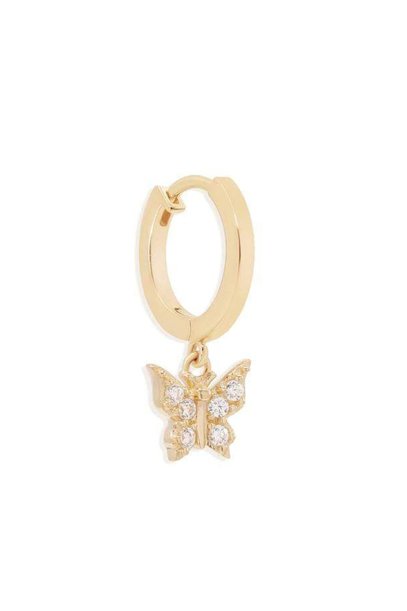 14k Gold Fly With Me Hoops