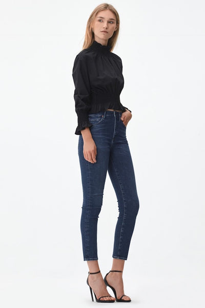 Cara High Rise Cigarette Ankle Jean (Retrograde)