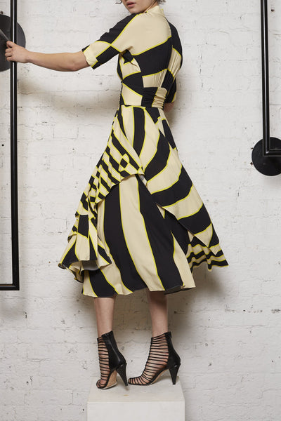 Handkerchief Skirt Zebra Dress