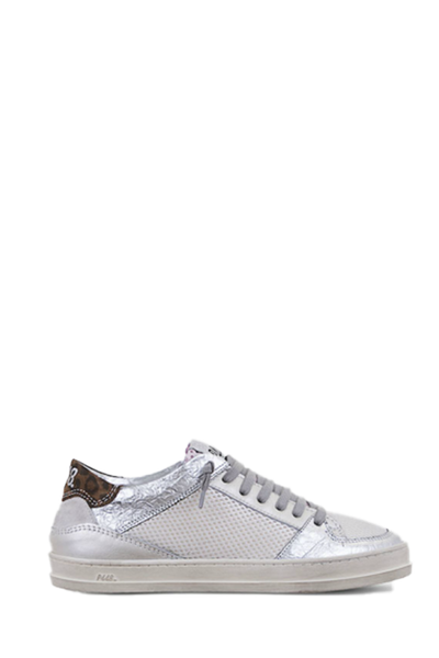 Queens Sneaker in White Glitter