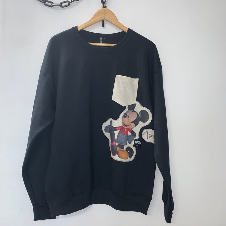 Mickey Hawk One-Off Pocket Crewneck Sweatshirt - Pick Pocket Manufacturing
