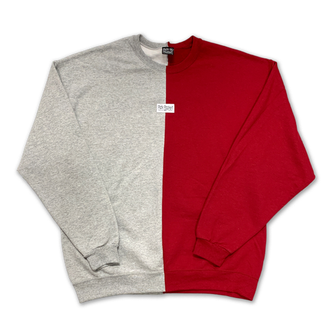 Dent Crewneck Sweatshirt Cardinal/Ath Heather - Pick Pocket Manufacturing