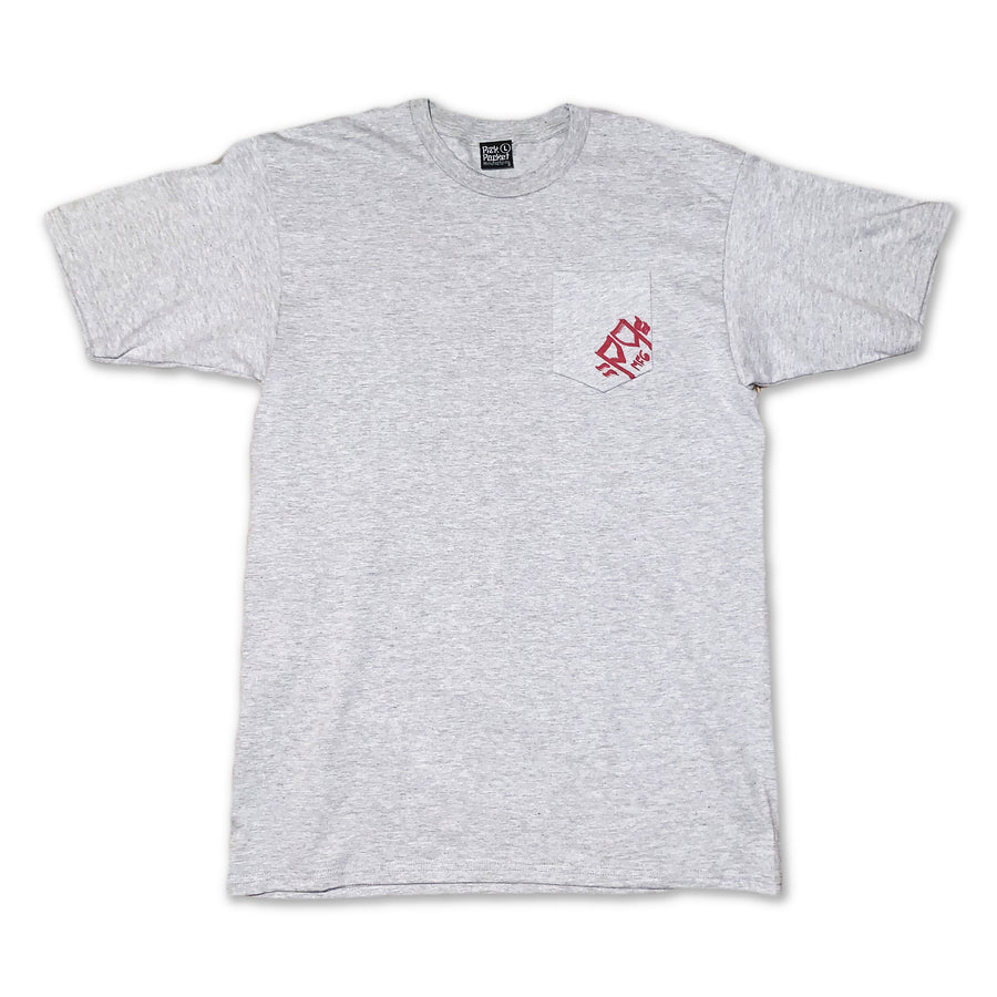 Drop Logo Pocket Tshirt Heather Gray - Pick Pocket Manufacturing