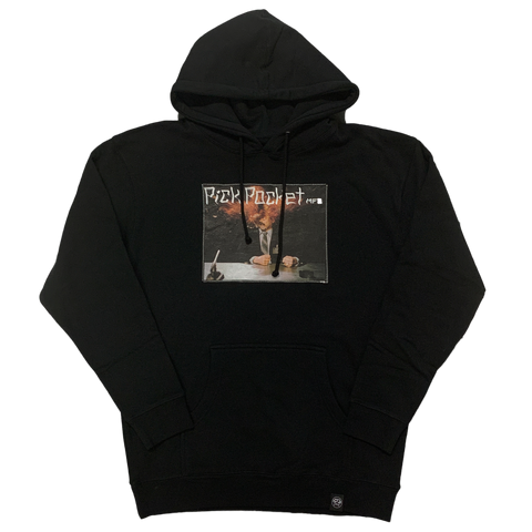 Explode Patch Hoodie Black - Pick Pocket Manufacturing
