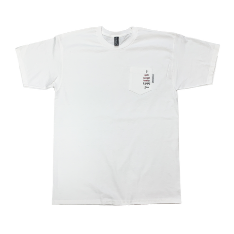 Love Pocket Tshirt White - Pick Pocket Manufacturing