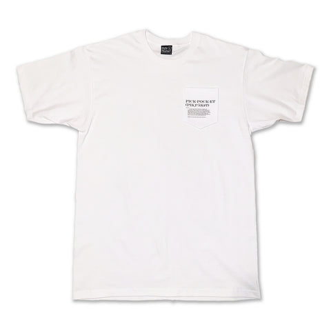 Phonic Pocket Tshirt White - Pick Pocket Manufacturing