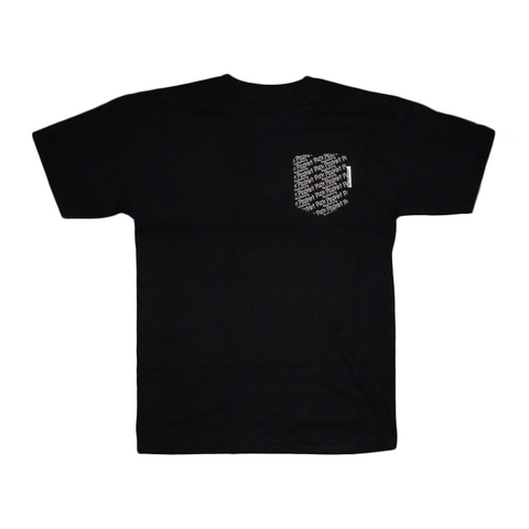 Repeat Pocket Tee (black pocket)