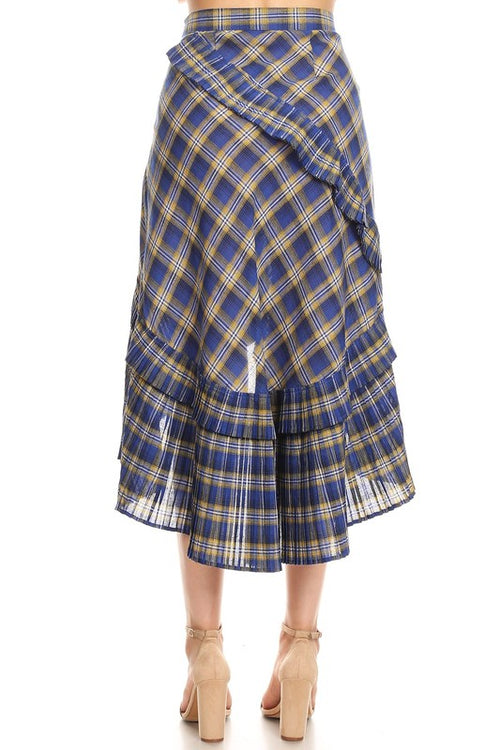 PLAYER PLAID SKIRT