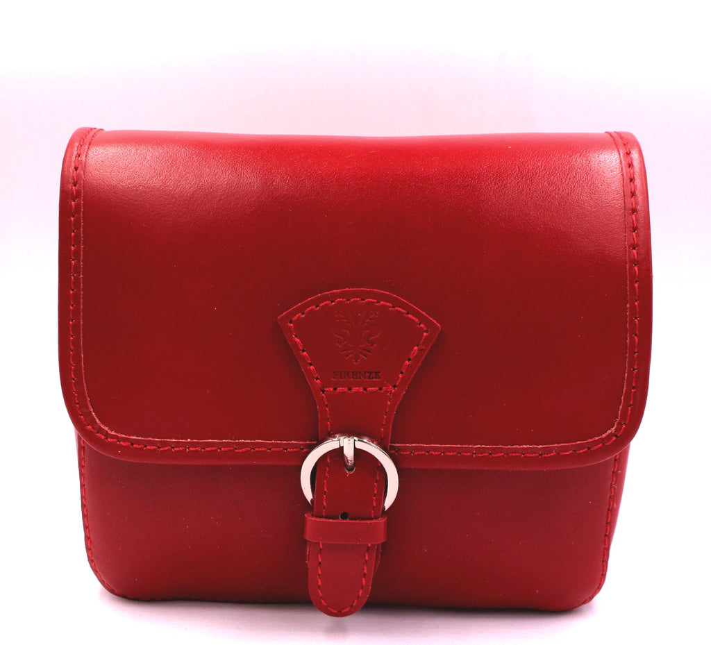 Rosso Leather Crossbody Bag - Bridges to Borders