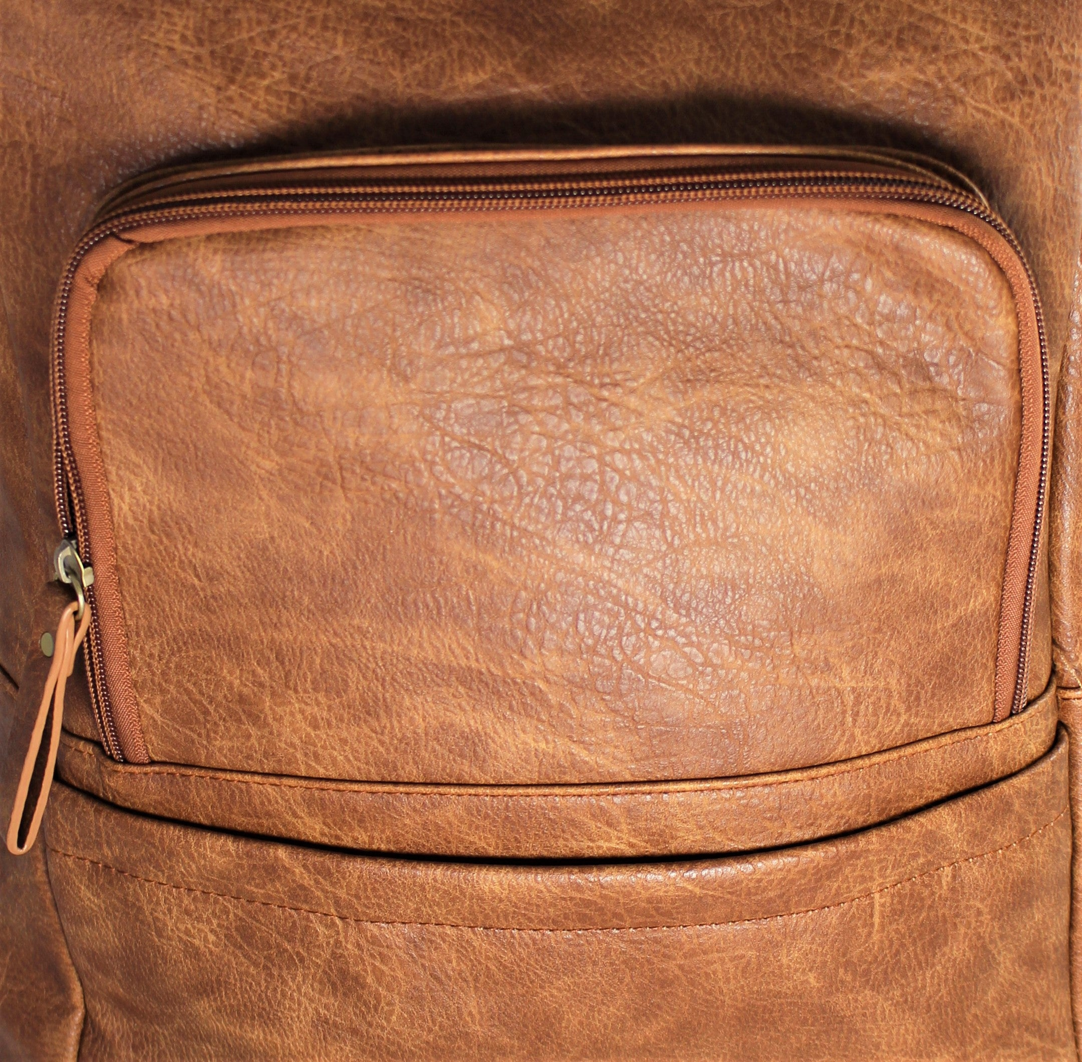 Distressed Faux Leather Textured Backpack - Bridges to Borders