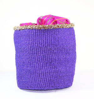 Violet Handmade Woven Hand Basket - Bridges to Borders