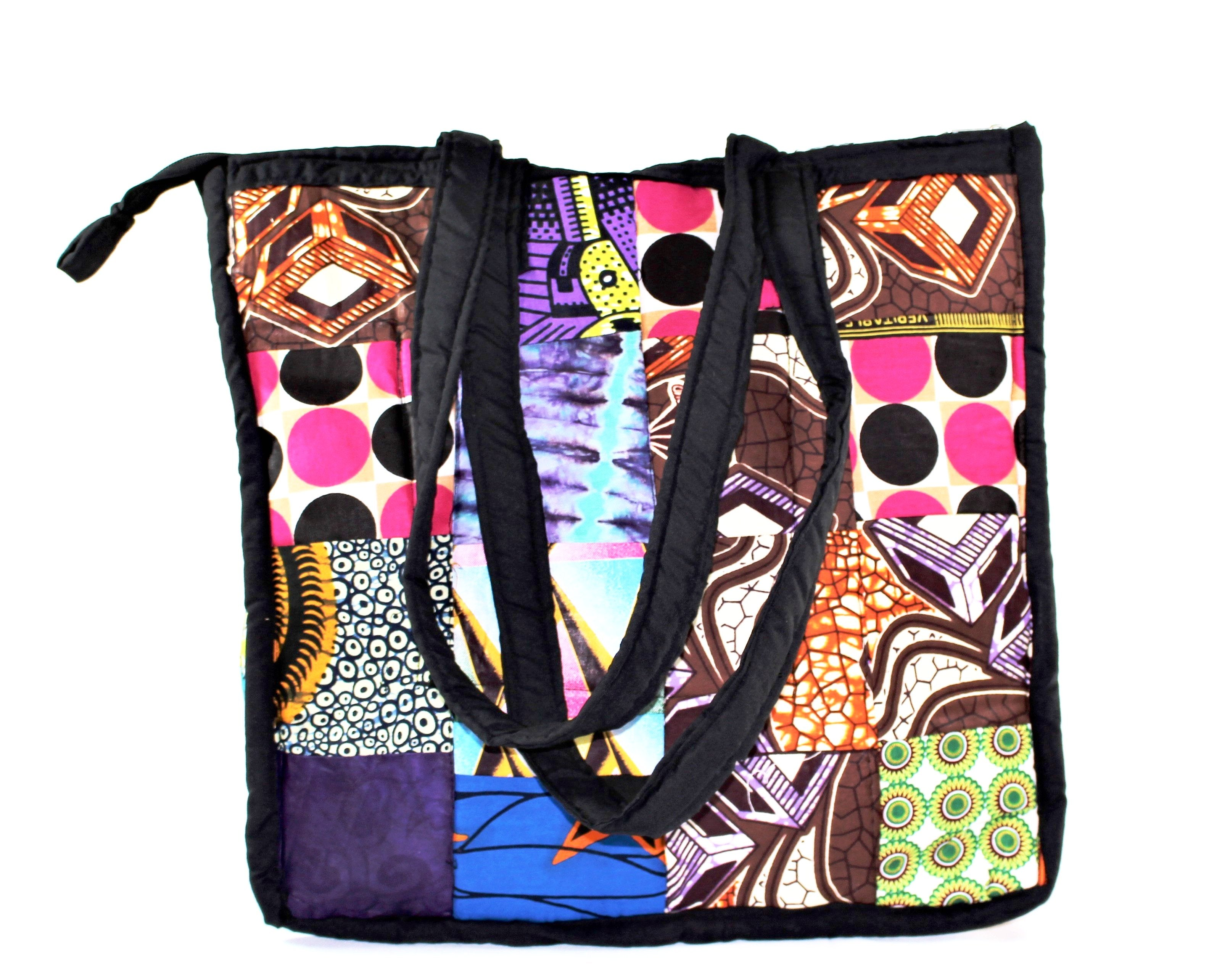 Multicolored Kitenge Tote - Bridges to Borders