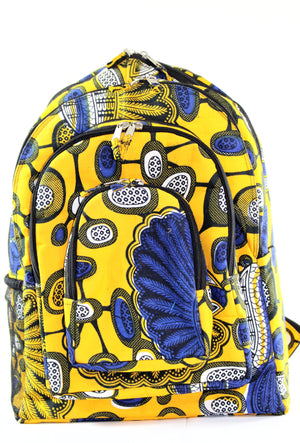 Yellow Kitenge Backpack - Bridges to Borders