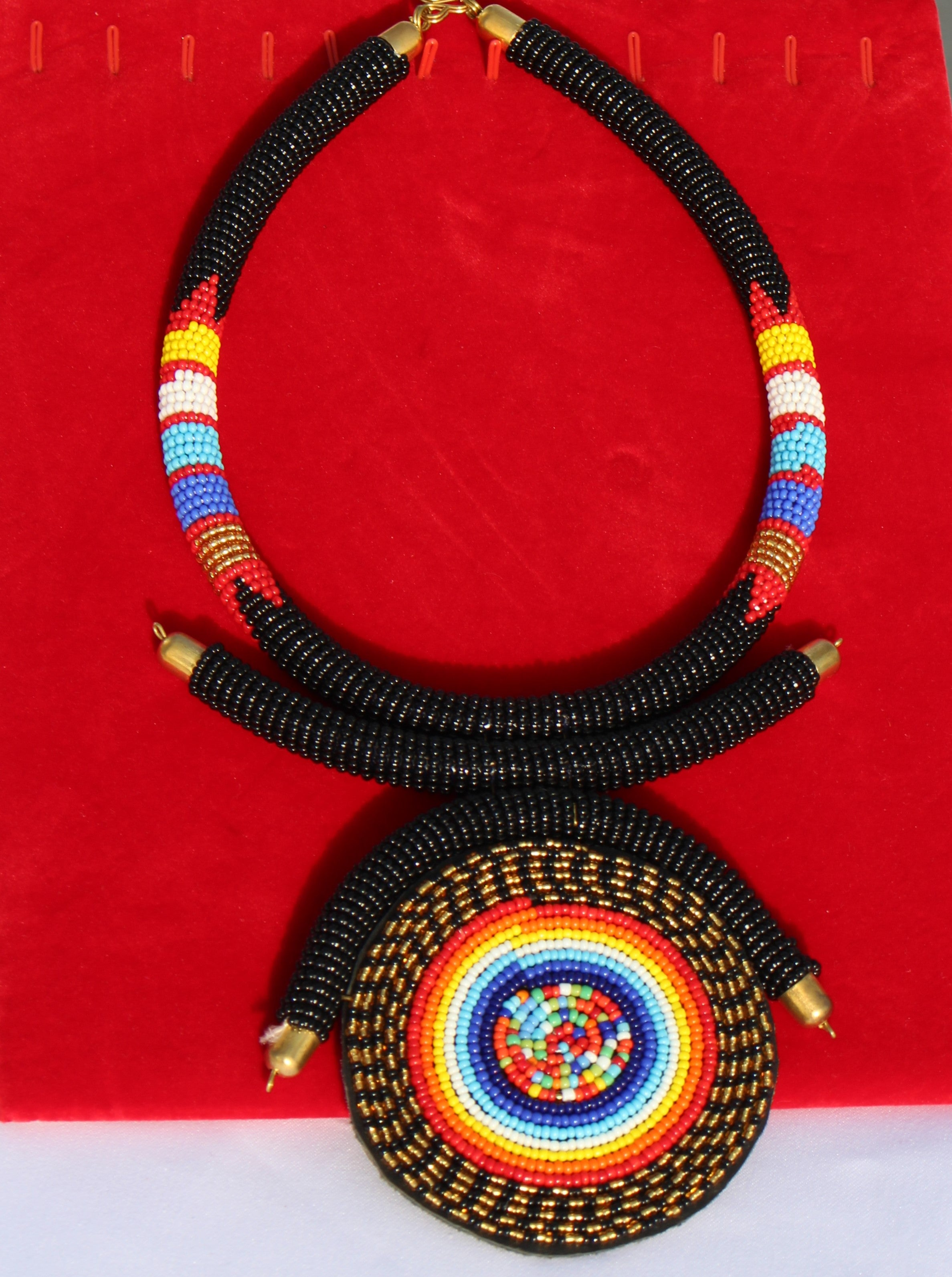 Tribal Multicolored Beaded Necklace - Bridges to Borders