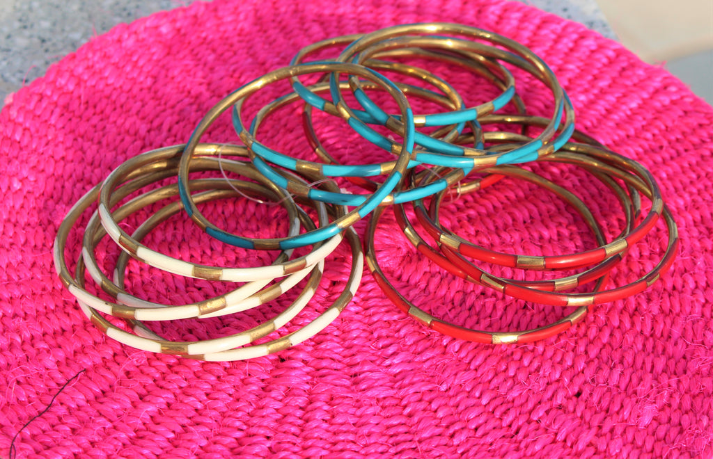 Striped Bangle Set - Bridges to Borders