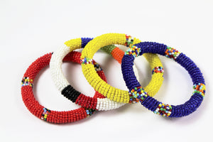 Handmade Beaded Bangle Set - Bridges to Borders