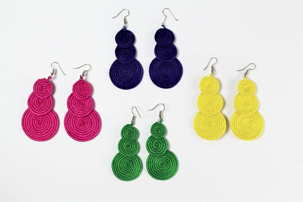 Colored Roped Earrings - Bridges to Borders