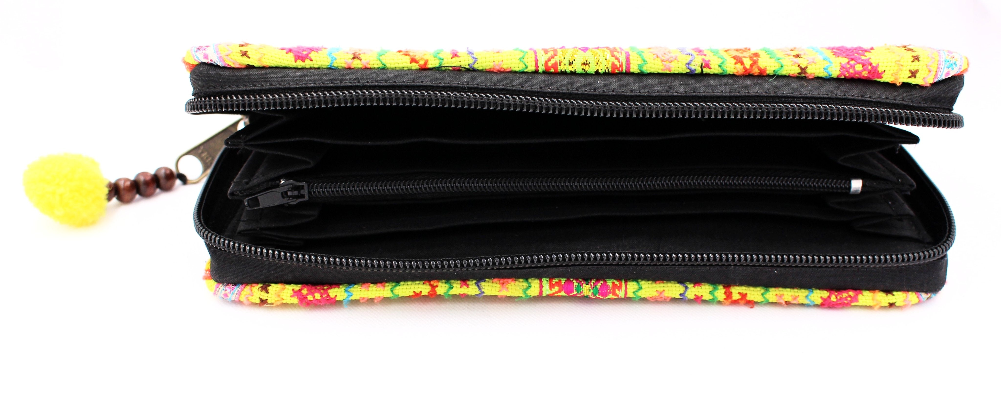 Neon Printed Wallet - Bridges to Borders