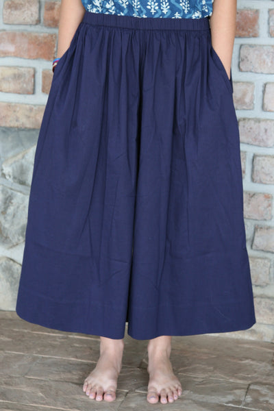 Culotte in Navy Organic Cotton