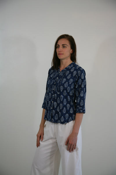 Nehru Collar Summer Blouse