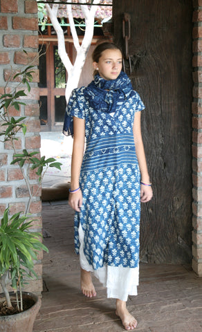 Faux Wrap Kurta Dress