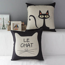 Large cushion covers Cute Cat