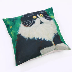 Creative Colorful Cartoon Cat Pattern Pillow Cover - Walls 'N dreams
