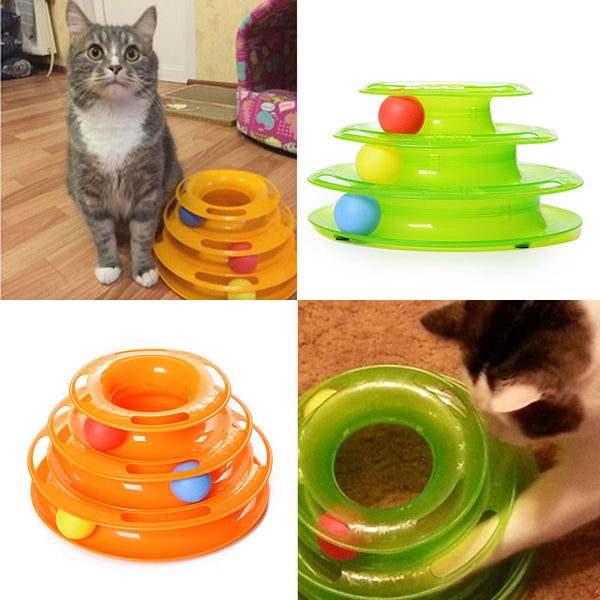 Cat Toy Three Levels Tower Tracks Disc