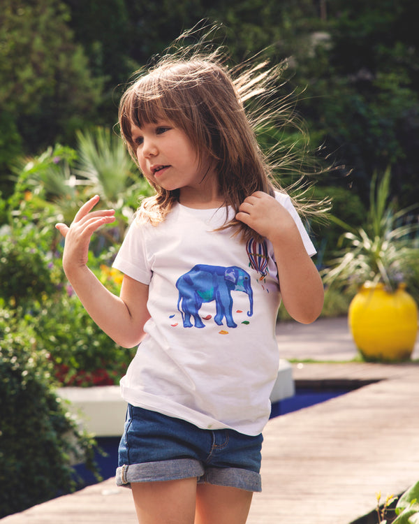 "T-shirt enfant  ""My Blue Elephant"""