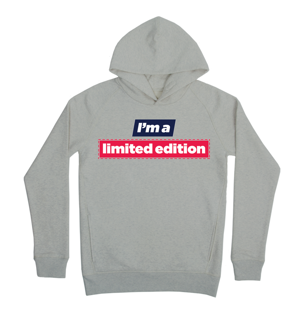 I'm a limited edition Hoodie Taille XL Couleur Heathergrey
