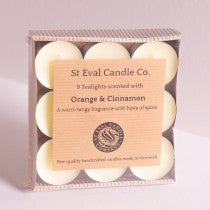 Orange & Cinnamon Scented Tea Lights