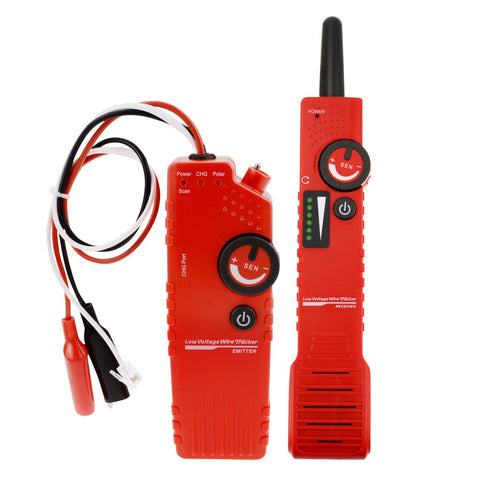 NF-819 Anti-jamming Underground Cable Tracker Detector Tester Wire Locator Low Voltage w/ Polarity Test Function Locate Electrical Wires, Telephone Wire, Coax Cable