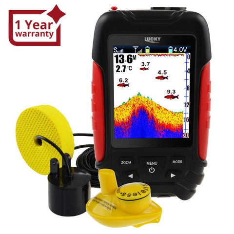 FF-168LiC LUCKY 2-in-1 Wired / Wireless Fish Finder Detector 100m / 45m Depth Range