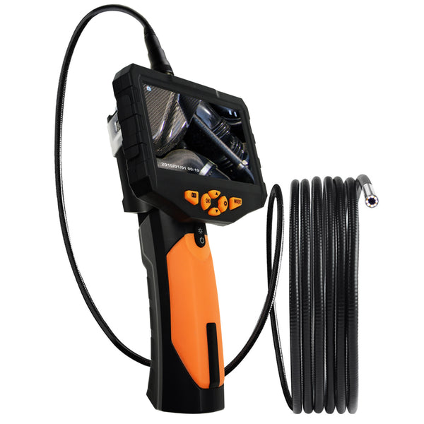 "N04NTS300_5M Industrial Endoscope 5M Cable Borescope Video Inspection HD Camera 4.5"" Color LCD Monitor"