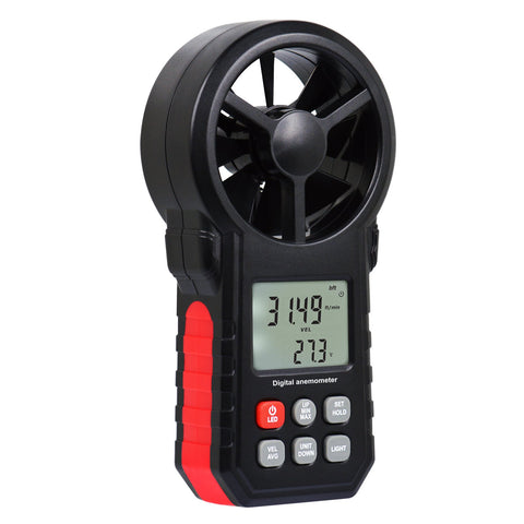 ANE-272 Digital Vane Anemometer Handheld Wind Speed Temperature Air Velocity Meter