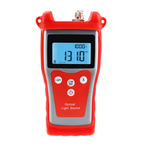 NF-902 Fiber Optical Light Source for Power Meter Handheld with 1310/ 1550nm Wavelength FC/ ST/ SC Interchangeable Interfaces