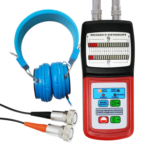 MS-120 Landtek Digital Mechanic's Engine Stethoscope with Headphone & 2 Separate Sensor Probe 10~10K Hz
