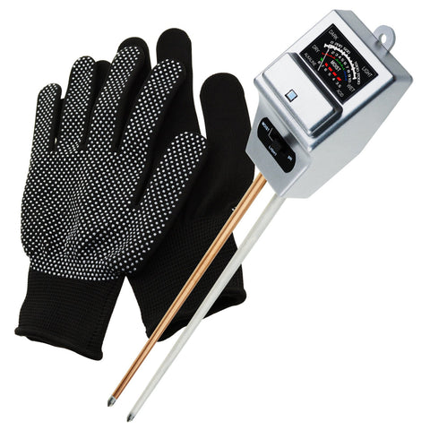 SQM-256_GLOVE Soil pH, Moisture & Light Meter 3 Way Tester Kit (Silver or Green with FREE Gloves)