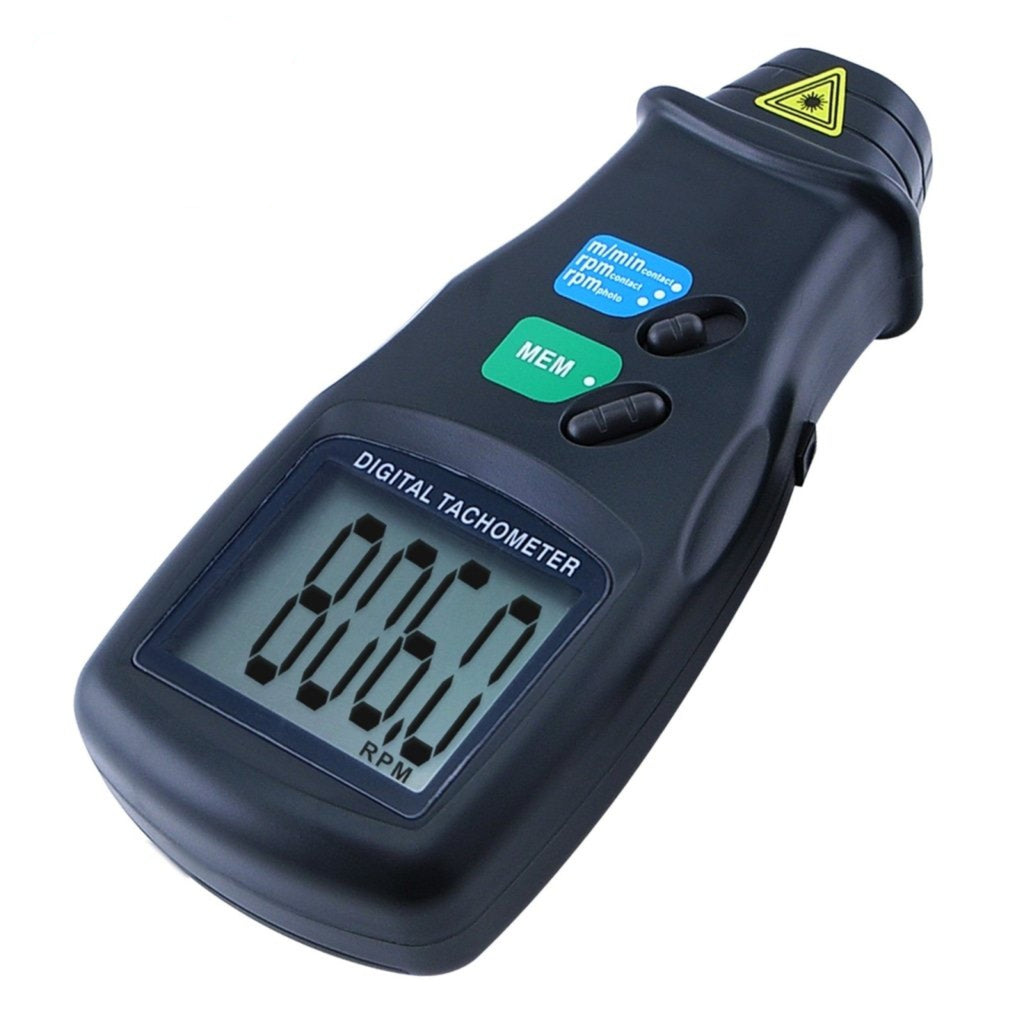 DT-6236B 2in1 Digital Laser Photo Tachometer Non & Contact RPM