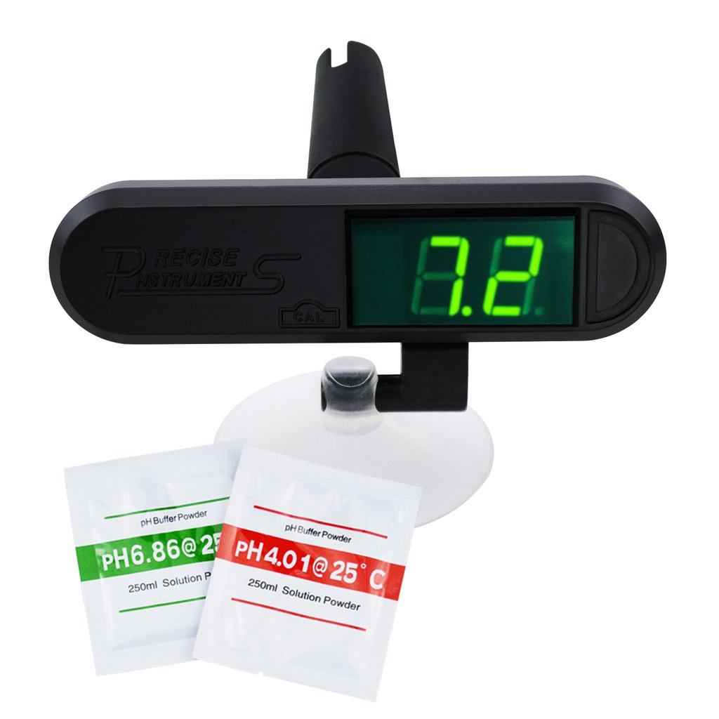 PHM-229 Digital Aquarium pH Monitor Meter Tester with Replaceable Electrode Continuous Monitoring Fish Tank Pond