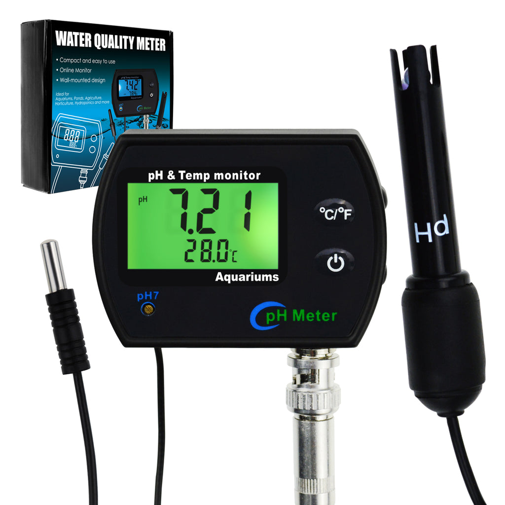 PHM-245 PH & Temperature 2-in-1 Continuous Monitor Meter w/ Backlight Replaceable Electrode